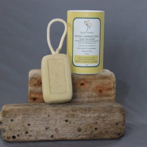 Lemon Rhassoul Soap on a Rope